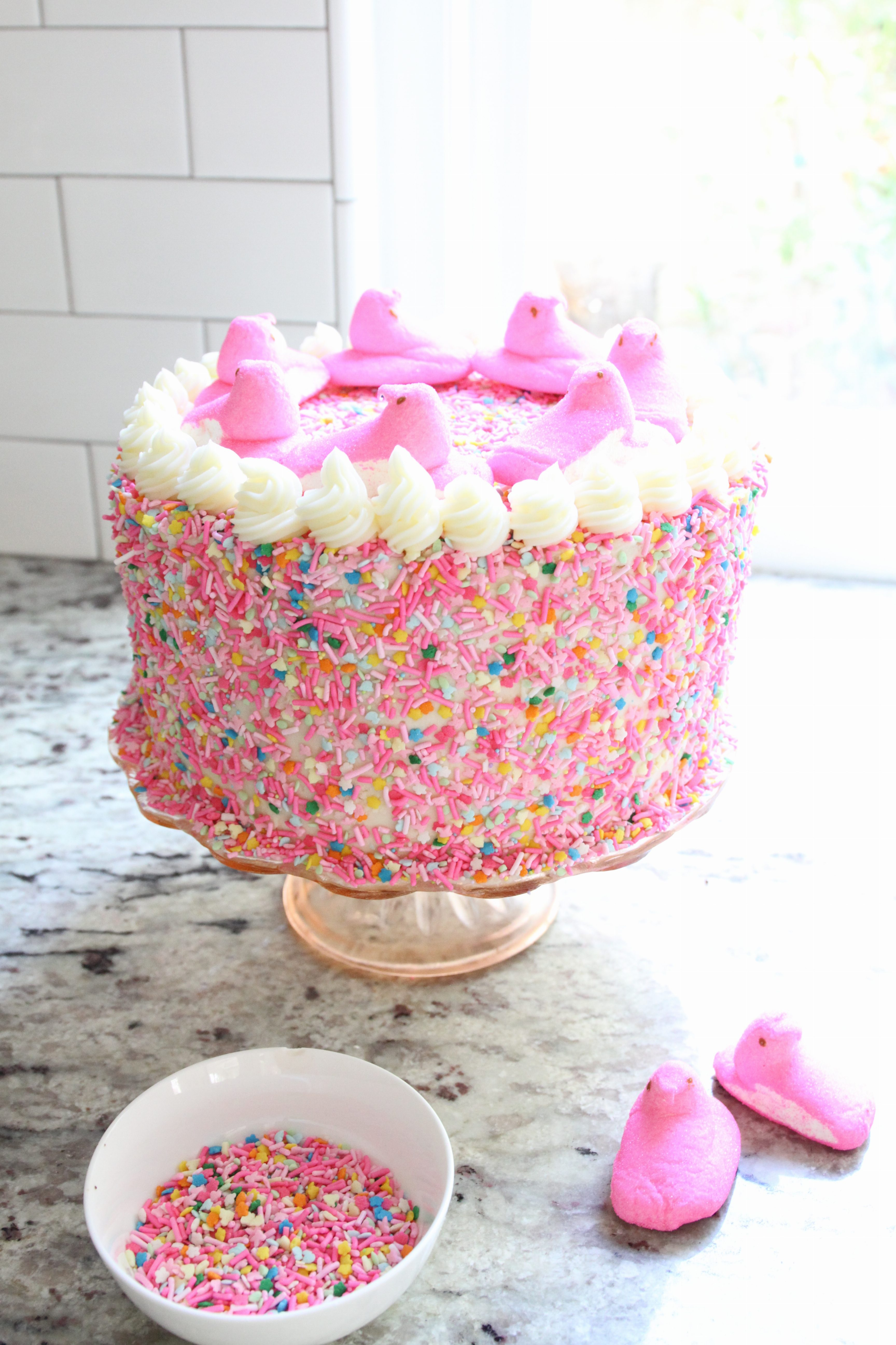 Peeps_Sprinkle_Cake